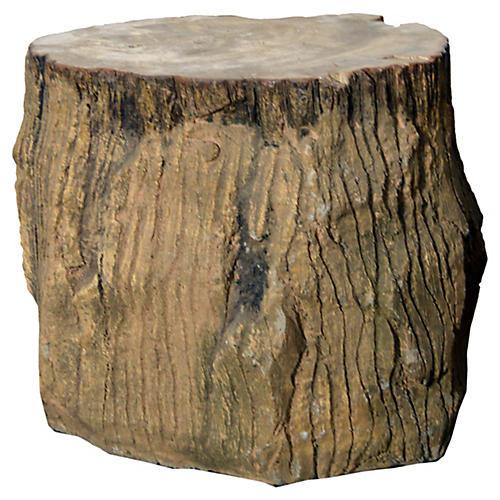 Antique Petrified Tree Stump Seat