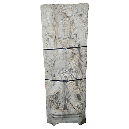 Antique Chinese Stone Temple Sculpture