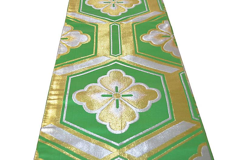 Japanese Silk Brocade Obi Table Runner