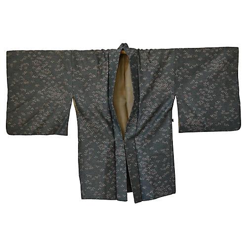 Japanese Green & Pink Kimono