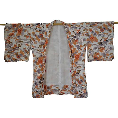 Japanese Floral Haori Kimono