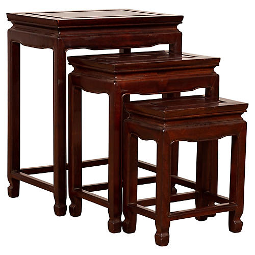 Three Chinese Rosewood Nesting Tables