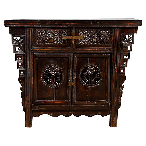 Chinese Ming Style Butterfly Cabinet