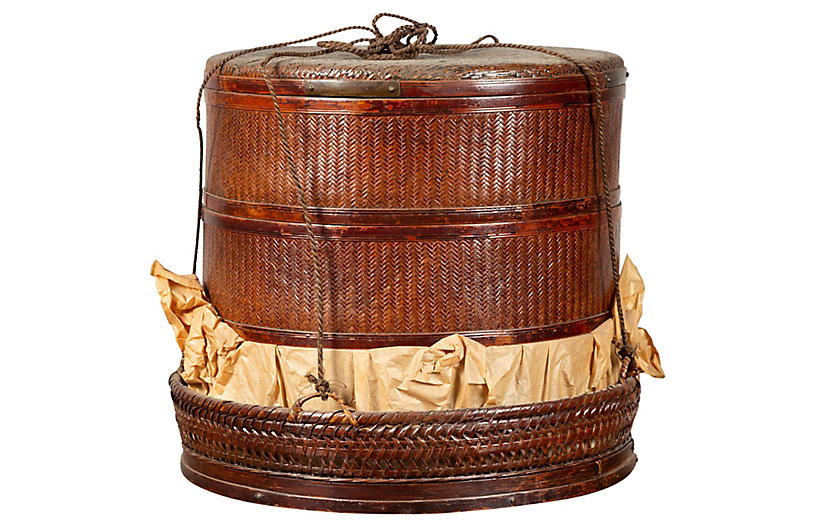 Chinese 19th Century Tiered Food Basket