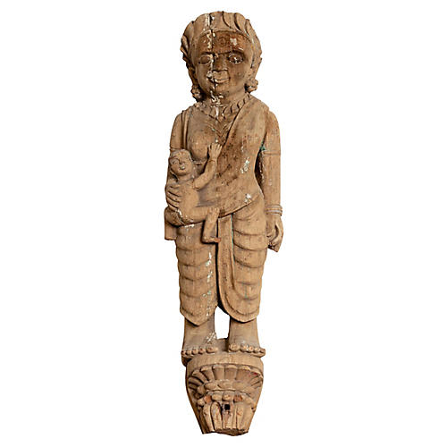 Hand Carved Indian Temple Carving Statue