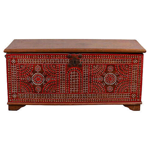Madura Red and Mother-of-Pearl Chest