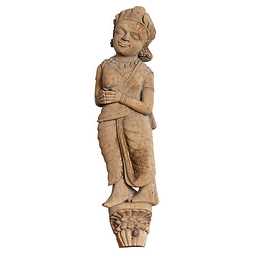 Indian Gujarat Carved Temple Statue