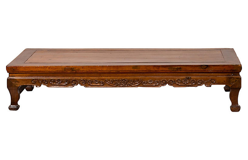 Chinese Elmwood Low Prayer Waisted Table