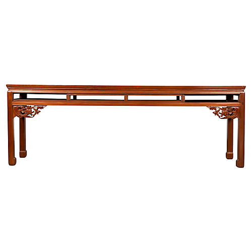 Chinese Long Carved Altar Console Table