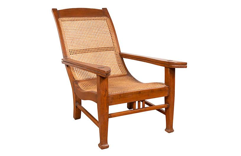 Dutch Colonial Plantation Lounge Chair