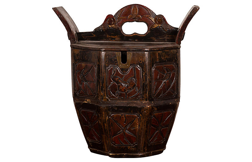 Antique Chinese Carved Wedding Box