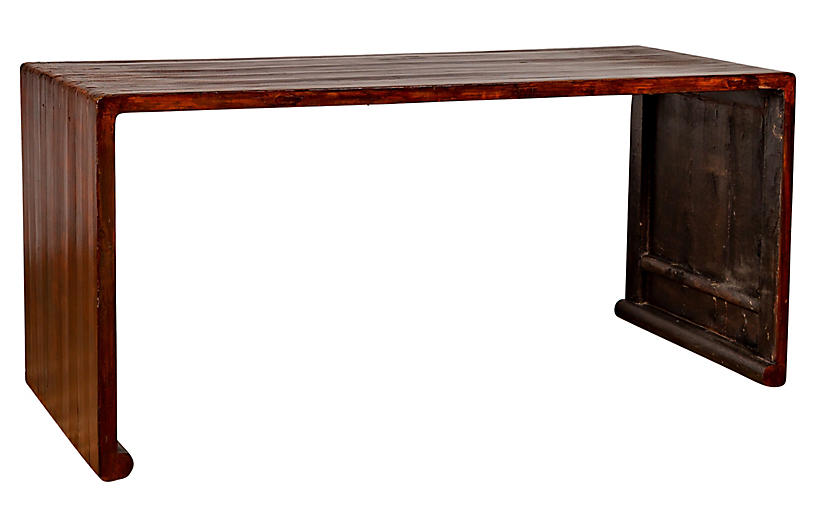 Burmese Vintage Waterfall Console Table