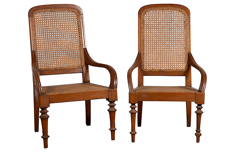 Pair of Dutch Colonial Java Armchairs
