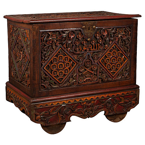 Indonesian Hand Carved Blanket Chest
