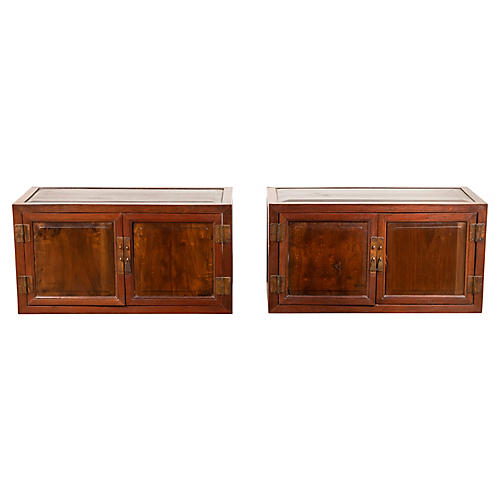 Pair of Chinese Antique Low Cabinets