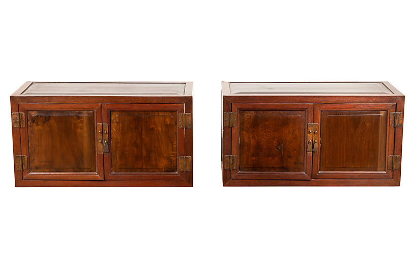 Chinese Antique Low Cabinets, Pair