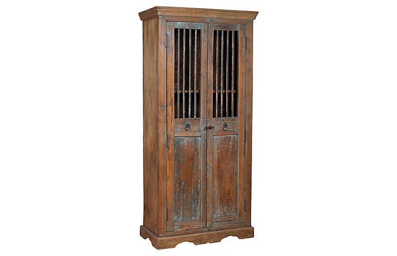 Indian Rustic Wooden Kitchen Cabinet