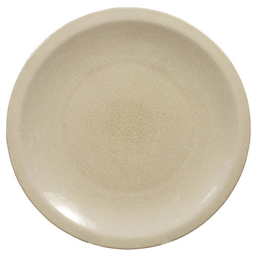 Chinese Beige Ceramic Charger Plate