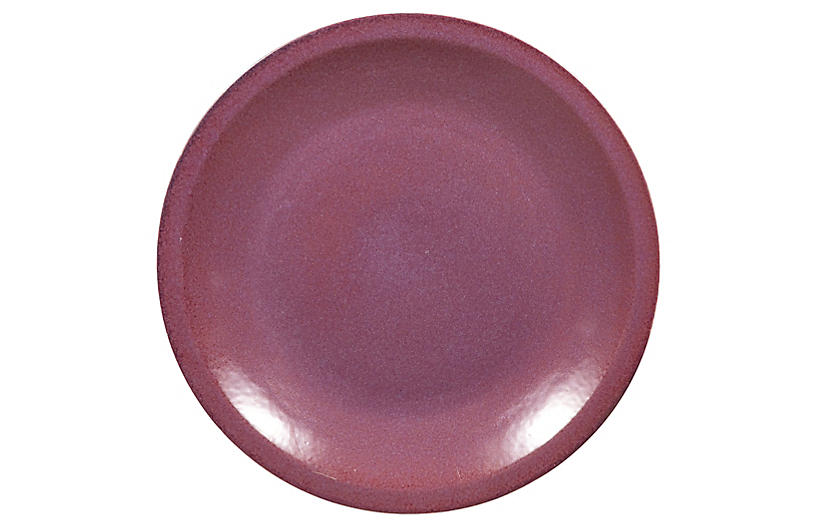 Chinese Vintage Purple Ceramic Charger