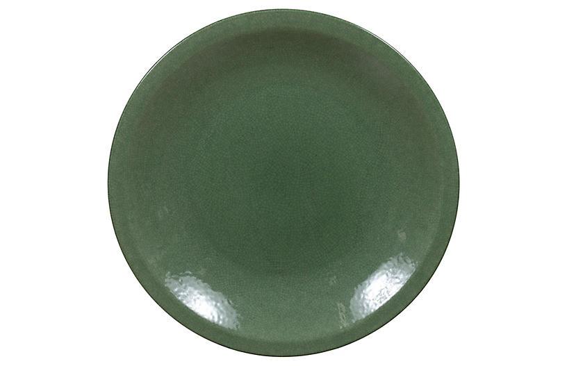 Chinese Vintage Celadon Ceramic Charger