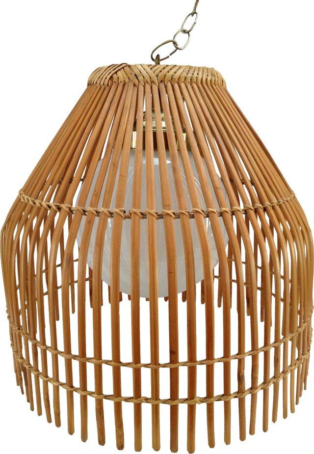 Bent Rattan Pendant Light