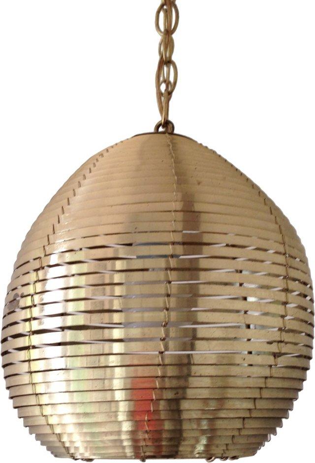 Brass Banded Pendant