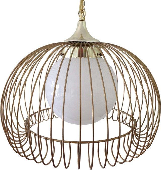 Gold Iron Birdcage Pendant
