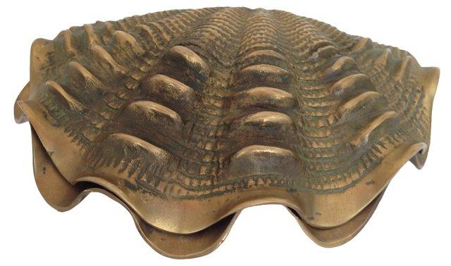 Hinged Brass Clamshell Box