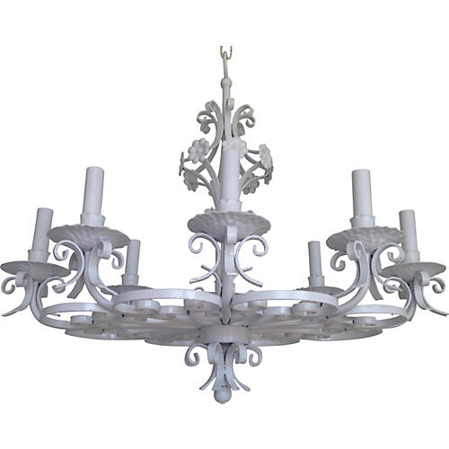 Wrought Iron 8-Light Chandelier