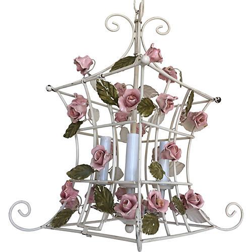 Italian Climbing Roses Chandelier