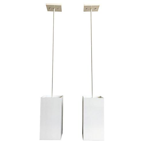 Prescolite Pendant Lights, Pair
