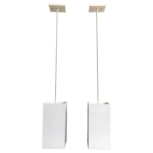 Prescolite Pendant Lights, Pair