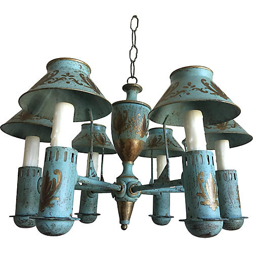 French Bouillotte-Style Chandelier