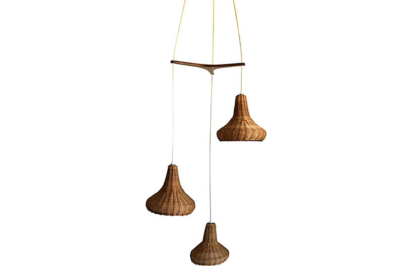 Modern Wicker Chandelier