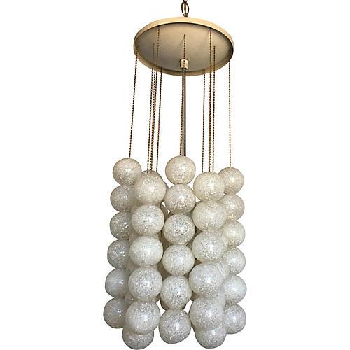 Lucite Balls Pendant Light