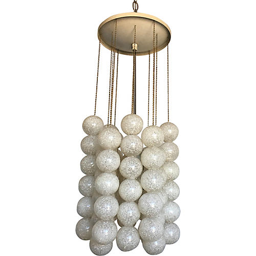Lucite Balls Pendant Light