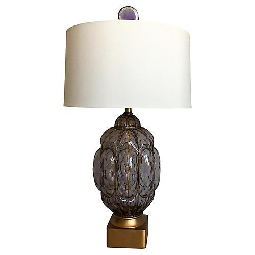 Murano Glass Cage Lamp w/Shade