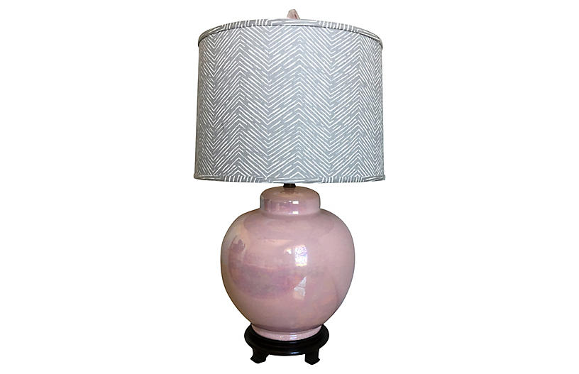 Oversize Ceramic Lamp & Shade