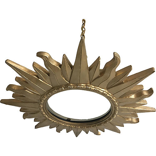 Gilt Sunburst Pendant Light