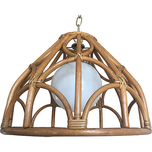 Japanese Rattan Pendant Light