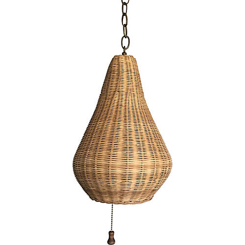 Wicker Beehive Pendant Light