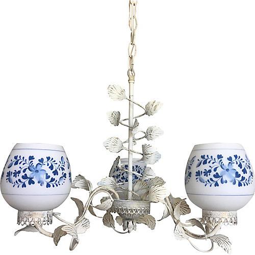 Midcentury Floral Chandelier