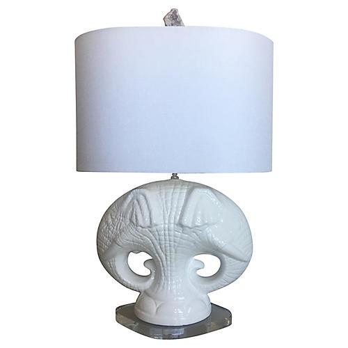 Italian Elephants Lamp & Shade