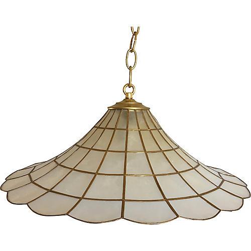 Capiz Parasol Pendant Light