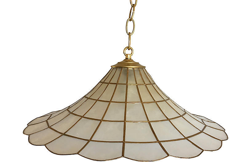 Capiz Parasol Pendant Light
