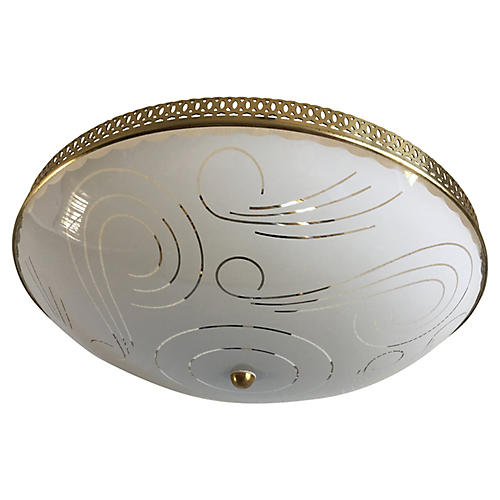 Mid-Century Modern Flush Light