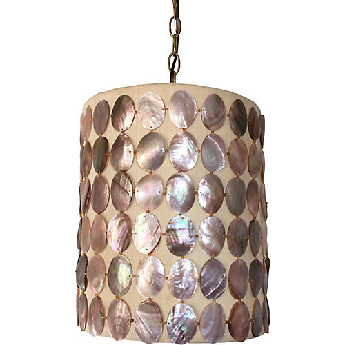 Abalone Shell Pendant Light