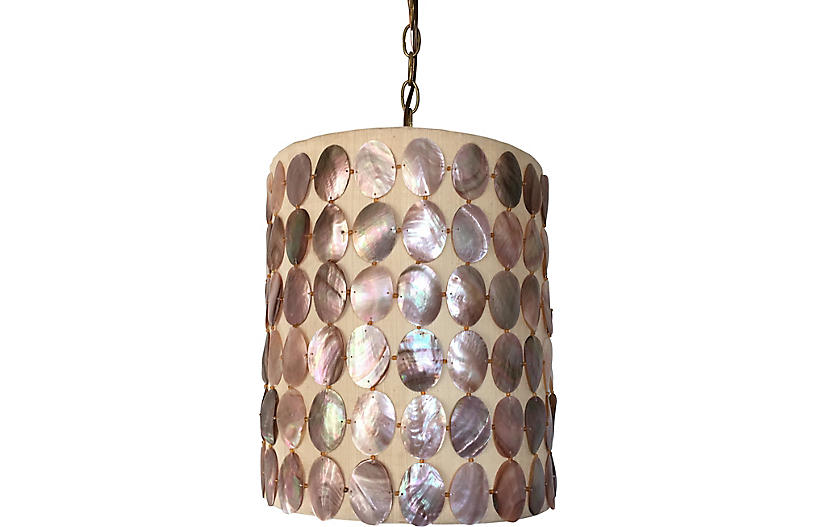 Abalone Shell Pendant Light