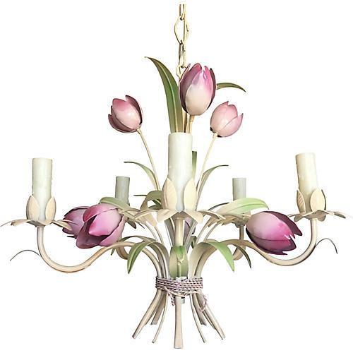1950s Italian Tulips Chandelier