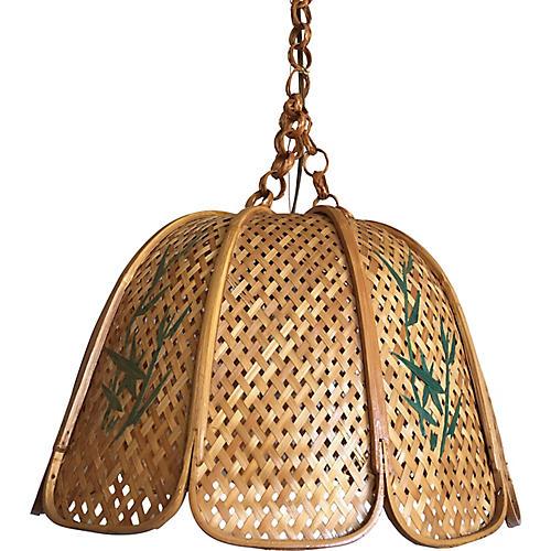 Wicker & Bamboo Pendant Light